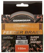 Шнур CORASTRONG Feeder Braid Super Fast Sinking 150м 0,08мм 3,50кг коричневый