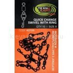 "Вертлюг Texnokarp шарнирный с кольцом ""Quick change swivel with ring"" уп/10шт"